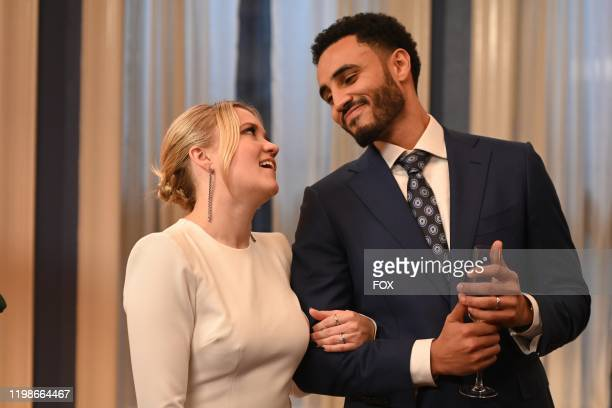 Emily Osment and Mustafa Elzein in the Expectant AF season finale episode of ALMOST FAMILY airing Wednesday Jan 29 on FOX