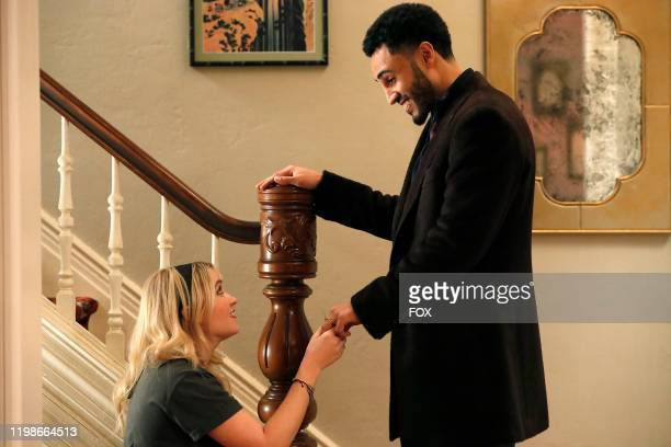 Emily Osment and Mustafa Elzein in the Permanent AF episode of ALMOST FAMILY airing Wednesday Jan 22 on FOX