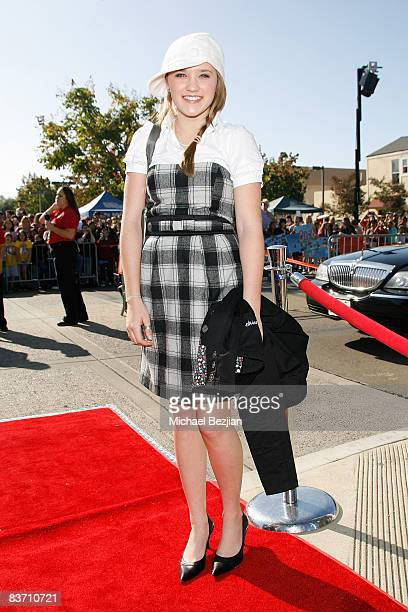 Emily Osment at the 61st Annual Mother Goose Parade on November 18, 2007 in El Cojon, California.