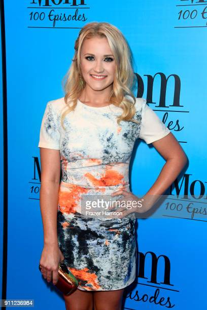 Emily Osment attends CBS And Warner Bros Television's Mom Celebrates 100 Episodes at TAO Hollywood on January 27 2018 in Los Angeles California