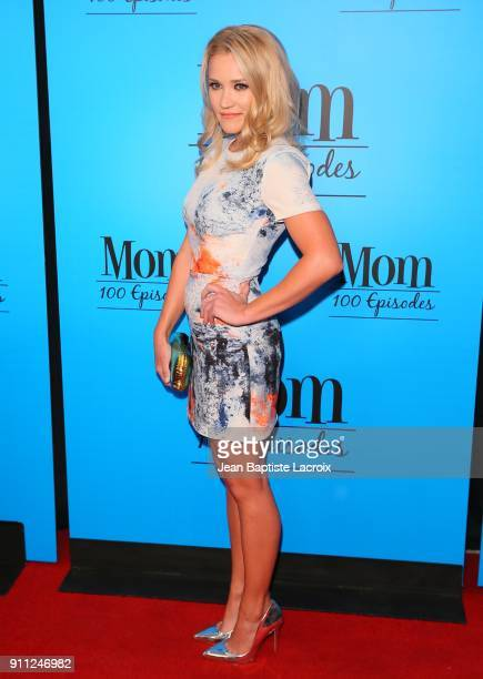 Emily Osment attends CBS And Warner Bros Television's 'Mom' Celebrates 100 Episodes at TAO Hollywood on January 27 2018 in Los Angeles California