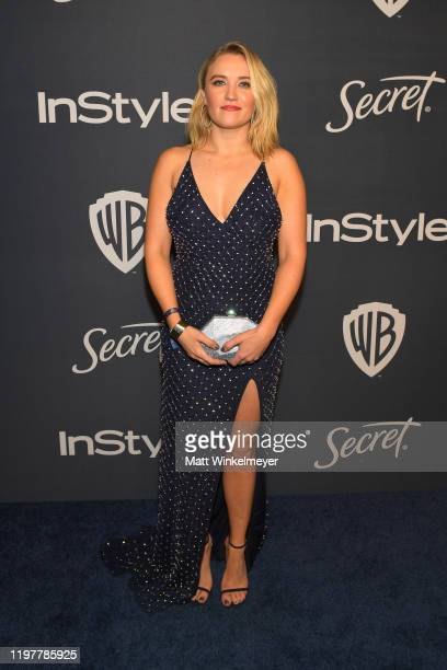 Emily Osment attends The 2020 InStyle And Warner Bros 77th Annual Golden Globe Awards PostParty at The Beverly Hilton Hotel on January 05 2020 in...