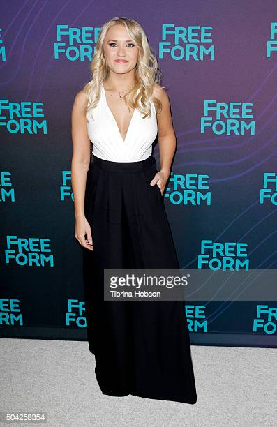 Emily Osment attends the Disney/ABC 2016 Winter TCA Tour at Langham Hotel on January 9 2016 in Pasadena California