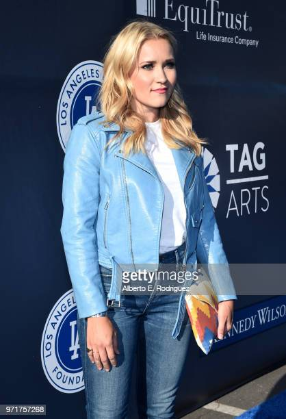 Emily Osment attends the Fourth Annual Los Angeles Dodgers Foundation Blue Diamond Gala at Dodger Stadium on June 11 2018 in Los Angeles California