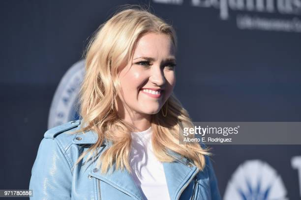 Emily Osment attends the Fourth Annual Los Angeles Dodgers Foundation Blue Diamond Gala at Dodger Stadium on June 11, 2018 in Los Angeles, California.
