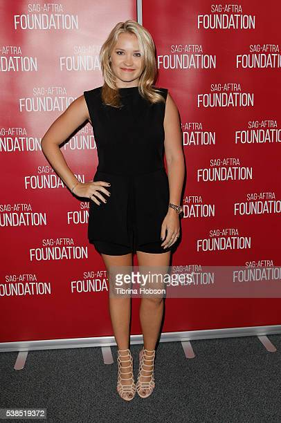 Emily Osment attends the SAGAFTRA Foundation Conversations with 'Mom' at SAGAFTRA Foundation on June 6 2016 in Los Angeles California