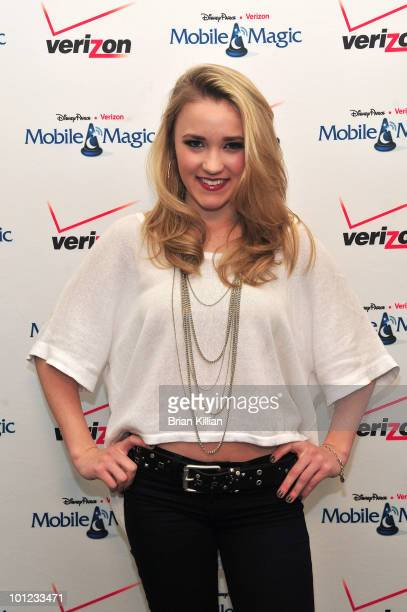 Emily Osment attends Verizon's 'Experience the Magic' Tour at the Freehold Raceway Mall on March 28 2010 in Freehold New Jersey