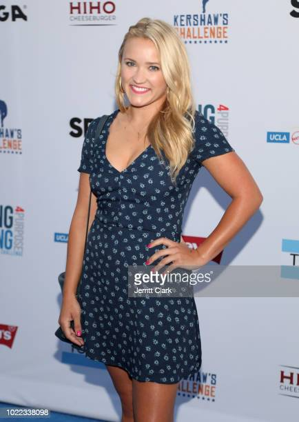 Emily Osment attensd the 6th Annual PingPong4Purpose at Dodger Stadium on August 23 2018 in Los Angeles California