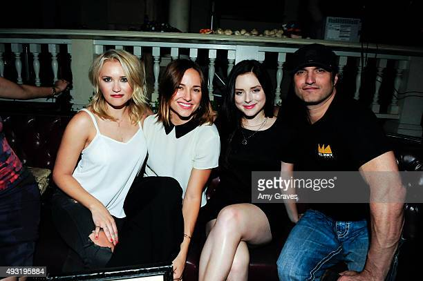 Emily Osment Briana Evigan Madison Davenport and Robert Rodriguez attend the Happy Socks Presents The World Premiere Screening of Sock 'Em Dead A...