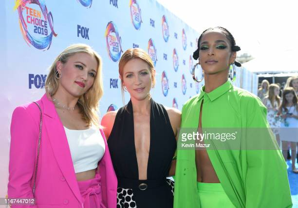 Emily Osment Brittany Snow and Megalyn Echikunwoke attend FOX's Teen Choice Awards 2019 on August 11 2019 in Hermosa Beach California