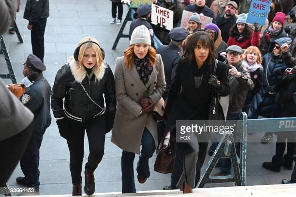 Emily Osment Brittany Snow and Megalyn Echikunwoke in the Expectant AF season finale episode of ALMOST FAMILY airing Wednesday Jan 29 on FOX