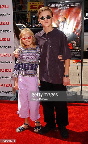 Emily Osment Haley Joel Osment during Spy Kids 2 The Island Of Lost Dreams Premiere at Grauman's Chinese Theatre in Hollywood California United States