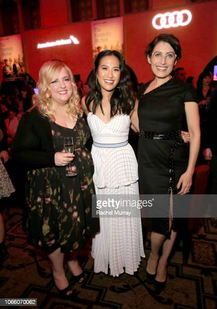 Emily Osment Melissa Tang and Lisa Edelstein attend the Los Angeles Premiere of 'The Kominsky Method ' at AFI Fest at The Roosevelt Hotel on November...