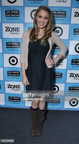 Emily Osment narrates the 2009 Los Angeles Film Festival's screening of 'Panda Diary' at the Landmark Theater on June 21 2009 in Los Angeles...