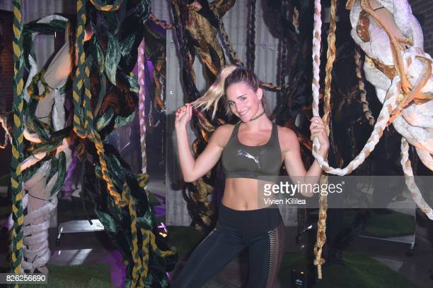 Emily Palos attends PUMA Hosts CAMP PUMA To Launch Their Newest Women's Collection Velvet Rope at Goya Studios on August 3 2017 in Los Angeles...