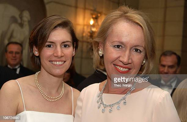 Emily Pataki and Libby Pataki during New York's First Lady Libby Pataki Honored with the American Cancer Society's Humanitarian Award at The Pierre...