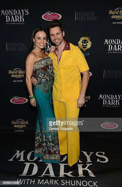 Emily Perucca and Shawn Perucca arrive at Mondays Dark benefitting Clark County Injured Police Officers Fund at Vinyl in The Hard Rock Hotel and...