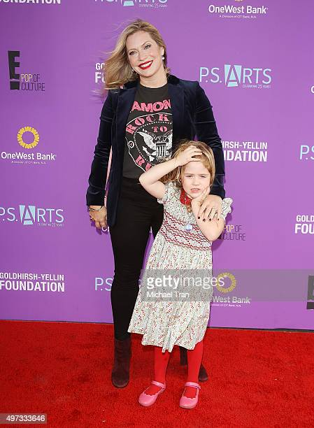 Emily Procter and her daughter arrive at the PS ARTS presents Express Yourself 2015 held at Barker Hangar on November 15 2015 in Santa Monica...