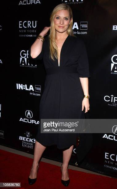 Emily Procter during Gen Art and Acura Present The New Garde Fashion Show Arrivals at Park Plaza in Los Angeles California United States