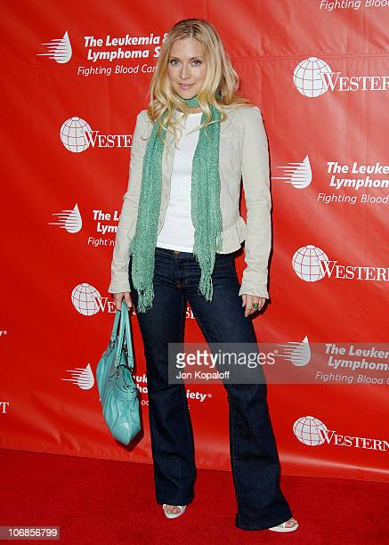 Emily Procter during The Leukemia Lymphoma Society Presents The Inaugural Celebrity Rock 'N Bowl Event at Lucky Strike Lanes in Hollywood California...