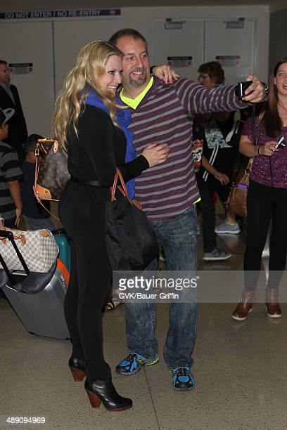 Emily Procter is seen at LAX on May 10 2014 in Los Angeles California
