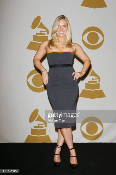 Emily Procter poses in the press room during the 51st Annual Grammy Awards held at the Staples Center on February 8 2009 in Los Angeles California
