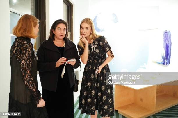 Emily R Pellerin Carolyn Ramo and Amanda Morse attend Frampton Co Exhibition Penthouse Opening Hosted By Elena Frampton at Frampton Co on November 21...