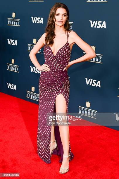 Emily Ratajkowski Actress on the Red Carpet during the NFL Honors Red Carpet on February 4 2017 at the Worthan Theater Center Houston Texas