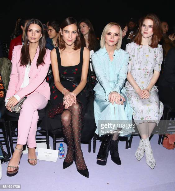 Emily Ratajkowski Alexa Chung Christina Ricci and Rose Leslie attend the Altuzarra fashion show during New York Fashion Week on February 12 2017 in...