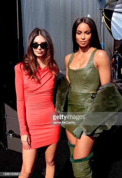 Emily Ratajkowski and Ciara attend DUNDAS x REVOLVE NYFW Runway Show Casa Cipriani on September 08, 2021 in New York City.