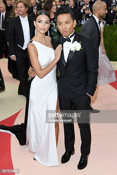 Emily Ratajkowski and fashion designer Prabal Gurung attends the 'Manus x Machina Fashion In An Age Of Technology' Costume Institute Gala at...