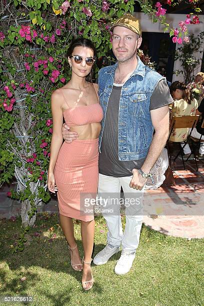 Emily Ratajkowski and Jeff Magid attend the #Chillchella brunch hosted by Bai beverages Dannijo Same Swim and Diane von Furstenberg on April 16 2016...
