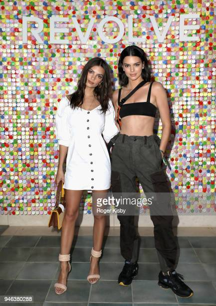 Emily Ratajkowski and Kendall Jenner attend #REVOLVEfestival Day 1 on April 14 2018 in La Quinta California
