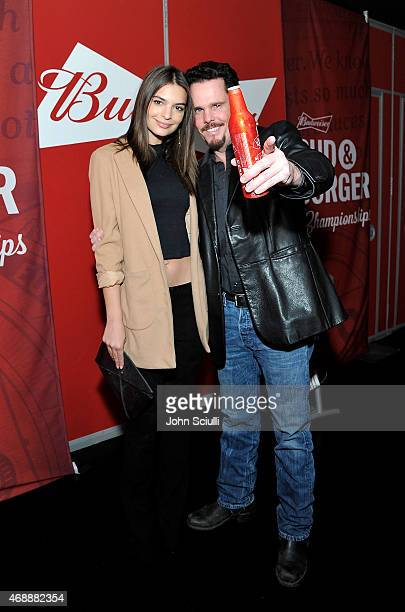 Emily Ratajkowski and Kevin Dillon stars of the upcoming Entourage movie joined Budweiser at an event in Los Angeles on April 7 to launch a...