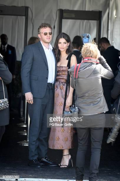 Emily Ratajkowski and Sebastian BearMcClard attends the 2018 Film Independent Spirit Awards on March 03 2018 in Los Angeles California