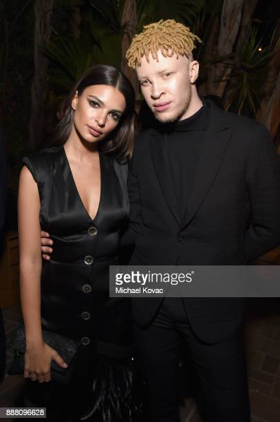 Emily Ratajkowski and Shaun Ross attend the 2017 GQ Men of the Year Party at Chateau Marmont on December 7 2017 in Los Angeles California