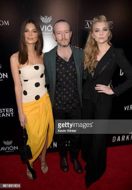 Emily Ratajkowski Anthony Byrne and Natalie Dormer attend the premiere of Vertical Entertainment's In Darkness at ArcLight Hollywood on May 23 2018...