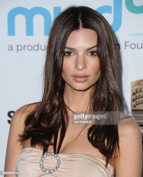 Emily Ratajkowski arrives at Goldie's Love In For Kids at Ron Burkle's Green Acres Estate on November 3 2017 in Beverly Hills California