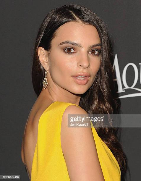 Emily Ratajkowski arrives at the 16th Annual Warner Bros And InStyle PostGolden Globe Party at The Beverly Hilton Hotel on January 11 2015 in Beverly...