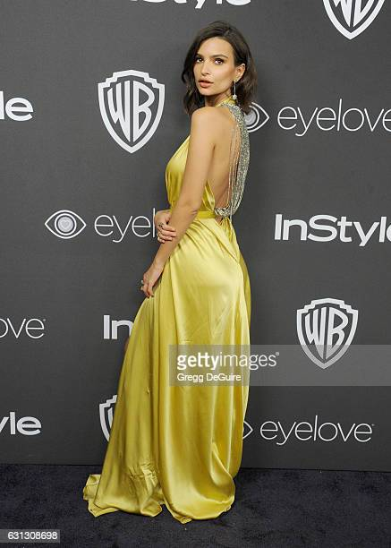 Emily Ratajkowski arrives at the 18th Annual PostGolden Globes Party hosted by Warner Bros Pictures and InStyle at The Beverly Hilton Hotel on...