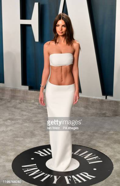 Emily Ratajkowski attending the Vanity Fair Oscar Party held at the Wallis Annenberg Center for the Performing Arts in Beverly Hills Los Angeles...