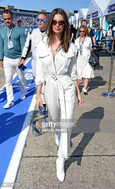 Emily Ratajkowski attends ABB FIA Formula E BMW i Berlin EPrix 2018 on May 19 2018 in Berlin Germany