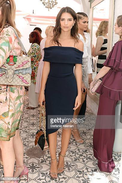 Emily Ratajkowski attends Glamour's Game Changers Lunch hosted by EditorinChief Cindi Leive Zendaya at AU FUDGE on April 20 2016 in West Hollywood...