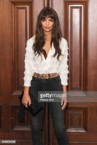 Emily Ratajkowski attends Marc Jacobs Spring 2018 Show Red Carpet at Park Avenue Armory on September 13 2017 in New York City