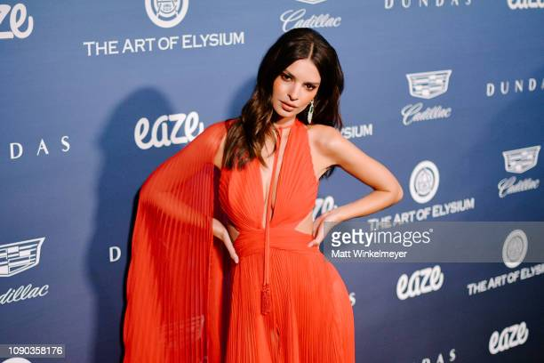 Emily Ratajkowski attends Michael Muller's HEAVEN presented by The Art of Elysium on January 05 2019 in Los Angeles California