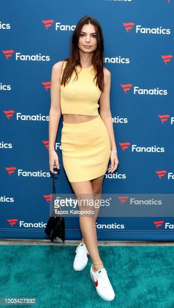 Emily Ratajkowski attends Michael Rubin's Fanatics Super Bowl Party at Loews Miami Beach Hotel on February 01, 2020 in Miami Beach, Florida.