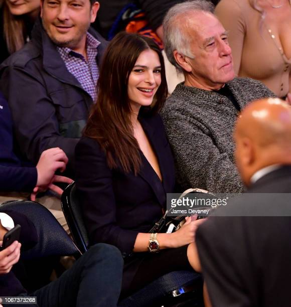 Emily Ratajkowski attends New York Knicks vs Milwaukee Bucks game at Madison Square Garden on December 1 2018 in New York City