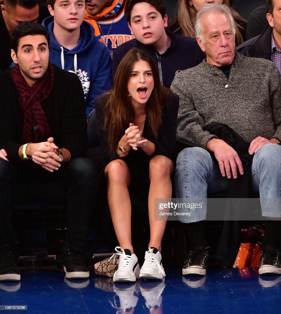 Celebrities Attend New York Knicks Vs Milwaukee Bucks : News Photo