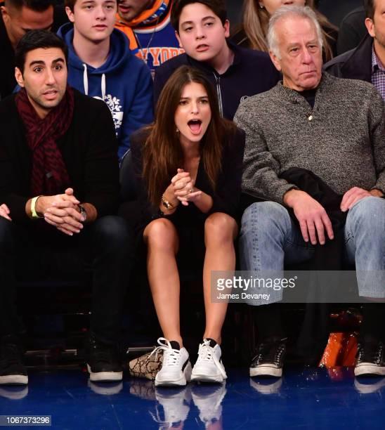 Emily Ratajkowski attends New York Knicks vs Milwaukee Bucks game at Madison Square Garden on December 1 2018 in New York City