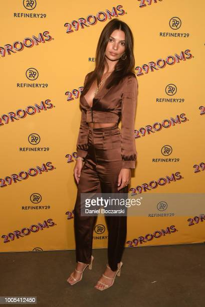 """Emily Ratajkowski attends """"Refinery29's 29Rooms Turn it Into Art"""" on July 25 2018 in Chicago Illinois"""